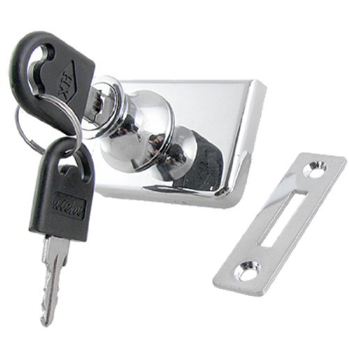 DealMux Gabinete Display Case Fechamento do metal para 7/20 única porta de vidro Swinging