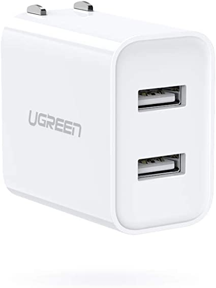 Amazon.com: UGREEN - Cargador USB de doble puerto 3.1 A con ...
