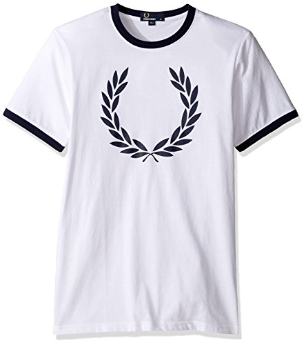 Fred-Perry-Mens-Laurel-Wreath-Ringer-T-Shirt