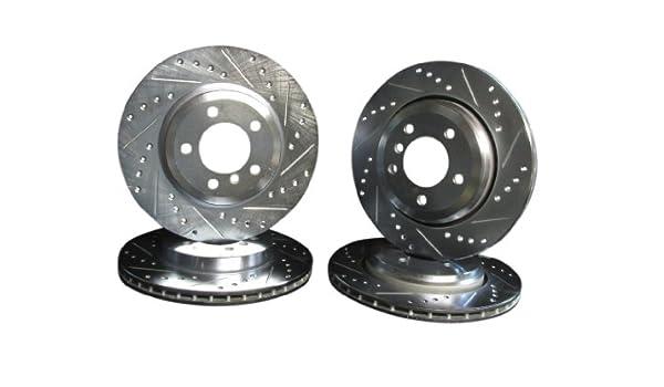 Ceramic Brake Pads For 2007-2010 BMW X5 Rear eLine Plain Brake Rotors