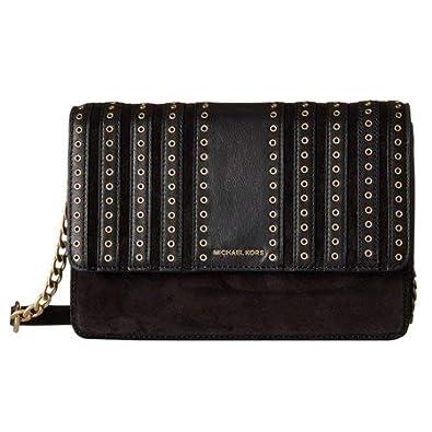 9168d48b6e57 MICHAEL Michael Kors Womens Brooklyn Grommet Crossbody Handbag Black  Medium: Handbags: Amazon.com