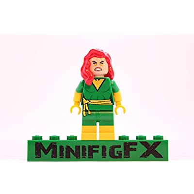 LEGO Custom Green Phoenix Minifigure Marvel X-Men Mutant Jean Grey Made Using Genuine Parts: Toys & Games