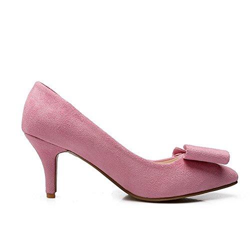 BalaMasa–Zapatos de tacón para mujer, piel de cerdo Rosa