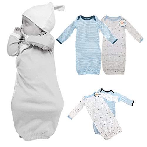 (Circo Newborn Baby Onsie Cotton Gowns 2 Piece Set Unisex Multicolored)