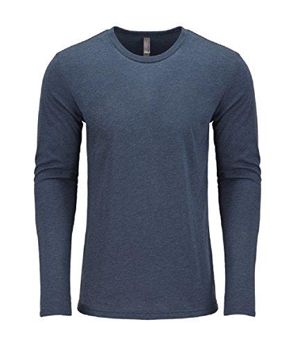 Next Level Men's Performance Blended Long Sleeve Jersey, X-Large, Indigo