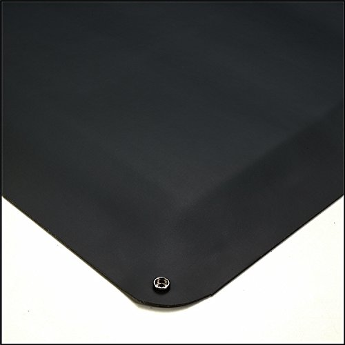 American Floor Mats Smooth Top Conductive Black 4' x 10' Anti-Fatigue 1/2 inch Thickness Comfort Mat