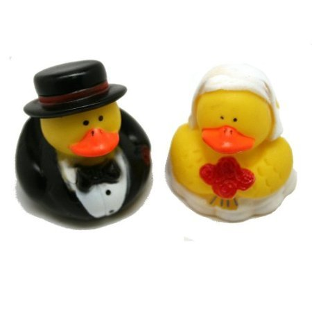 Amazon.com: Set de 12 de boda de goma Duckies/patos novia y ...