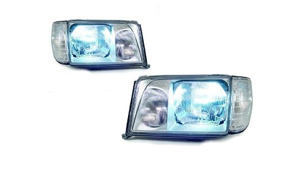 Mercedes E-Class W124 55w Super White Xenon High//Low//LED Side Headlight Bulbs