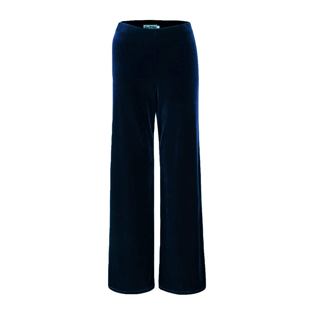 MISS 'N' MAM New Ladies Womens Fully Elasticated Pull On Velour Velvet Trousers Plus Sizes 12-26