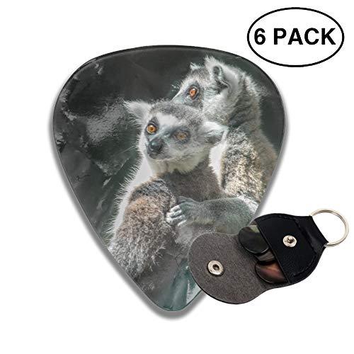 ks 3D Printed Animal Lemur Monkeys Best Guitar Bass Gift for Lover ()