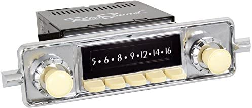 RetroSound HI-304-68-78 Hermosa Direct-Fit Radio for Classic Vehicle (Face  & Ivory Buttons and Faceplate)