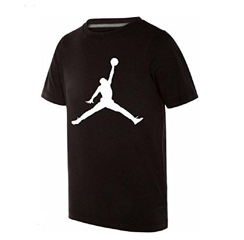 Nike Air Jordan Boys Jumpman 23 Dri-Fit T-Shirt (Small, Black)