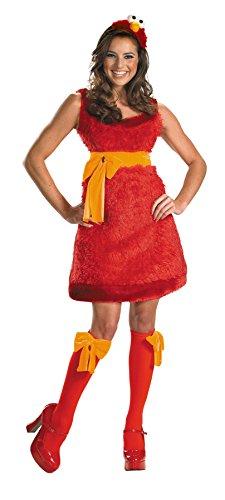 UHC Women's Sesame Street Elmo Party Fancy Dress Halloween Costume, M (Cheap Sesame Street Costumes)