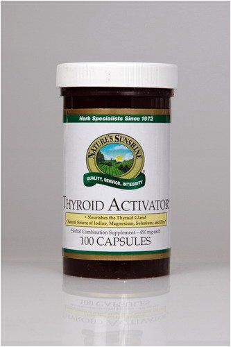 Naturessunshine Thyroid Activator Support Thyroid Gland HerbalCombination Supplement 100 Capsules (Pack of 12)