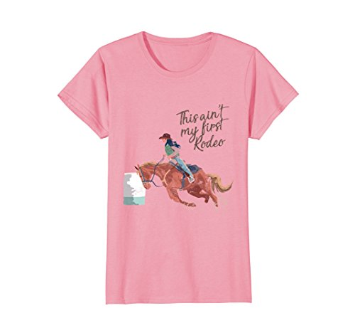 Womens Cowgirls's Rodeo T-Shirt for Barrel Racers and Calf Ropers Small (Cowgirl Womens Pink T-shirt)