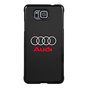 Samsung Galaxy Alpha Case ,Fashion And Unique Designed Samsung Galaxy Alpha Case With Audi Logo Black Hight Quality Cover