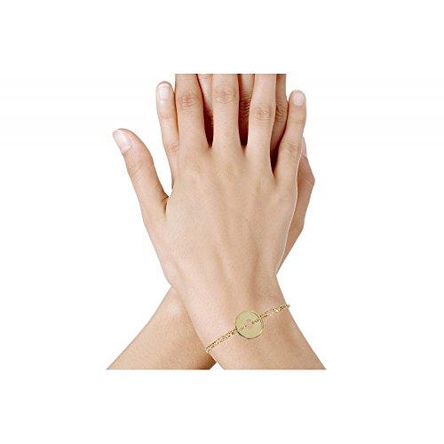 Les Poulettes Bijoux - Bracelet Jeton Plaqué Or