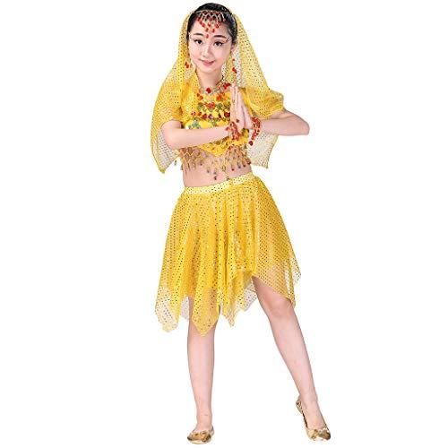 Kids Girls Belly Dance Halter Top Harem Dresses