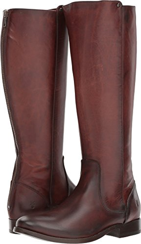 FRYE Women's Melissa Stud Back Zip Riding Boot Redwood 9.5 M US