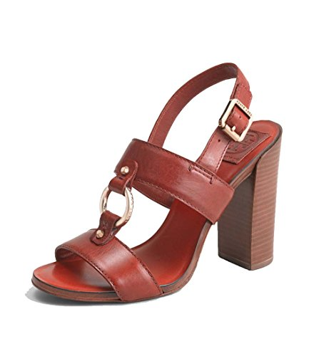 Tory Burch Women's Fletcher High Heel Sandal Rust Red size 8 M