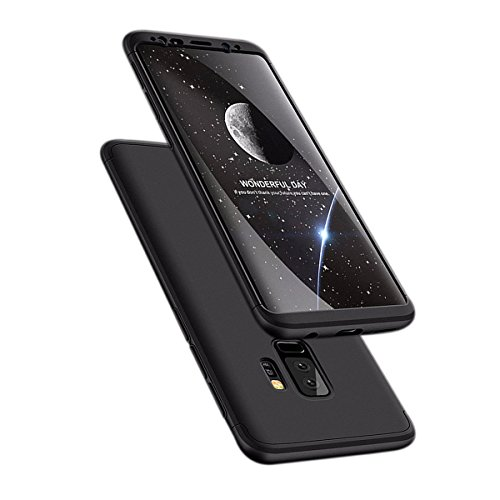Hayder Galaxy S9 Plus Case 3 In 1 Ultra Thin Anti-Scratch 360 Degree Full Protection Hard Cover Shockproof Case for Samsung Galaxy S9 Plus (Black)