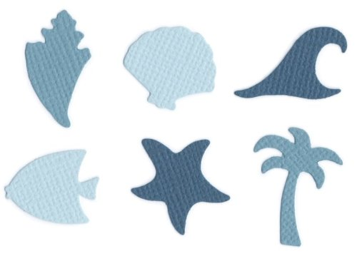 (QUICKUTZ We R Memory Keepers Cookie Cutter Die Set, Beach Shapes)
