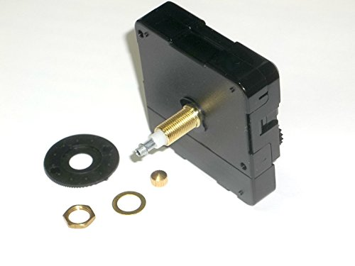 Requires High Torque Movement - High Torque Quartz Clock Movement (Silent) w/Extended Shaft (for Long Hands), Long Shaft- 9/16