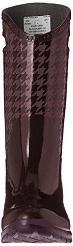 Myrar Kvinna Berkley Houndstooth Regn Boot Aubergine / Multi