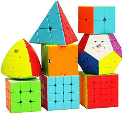 HXGL-Cubos Mágicos Cubo De La Velocidad Conjunto Cubo Mágico 2x2 3x3 4x4 5x5 Espejo Megaminx Oblicuos Pyramorphix Pirámide Cubo Conjunto Múltiple Rompecabezas Juguetes Educativos Juego De Regalo Packs: Amazon.es: Hogar