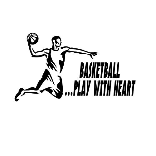 - PressFans - Basketball .Play with Heart Basketball Sport Decal Sticker