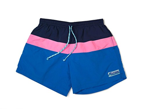 Retro Trunk - Cutters Apparel Men's Retro Swim Trunks Surf Board Shorts with Mesh Lining - Bottom Bay, XL