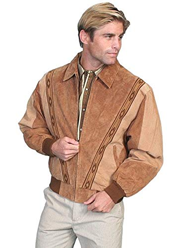 (Two-Toned Boar Suede Rodeo Jacket - 3X, Cafe Brown/Camel)