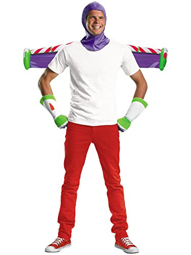 Disguise Men's Disney Pixar Toy Story and Beyond Buzz Lightyear Adult Costume Kit, White/Purple/Green/Red, One -