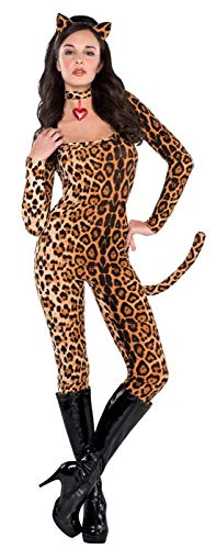 Cheetah Costumes For Women - AMSCAN Leopard Catsuit Halloween Costume for