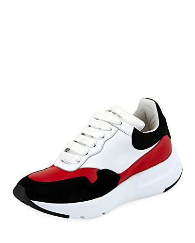 Alexander McQueen McQueen Leather Runner Sneakers (38.5) Black/Red