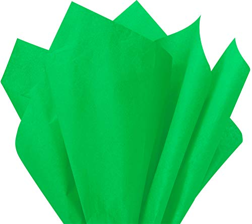 Flexicore Packaging Apple Green Gift Wrap Tissue Paper Size: 15 Inch X 20 Inch   Count: 100 Sheets   Color: Apple Green (Green Apple Sheets)