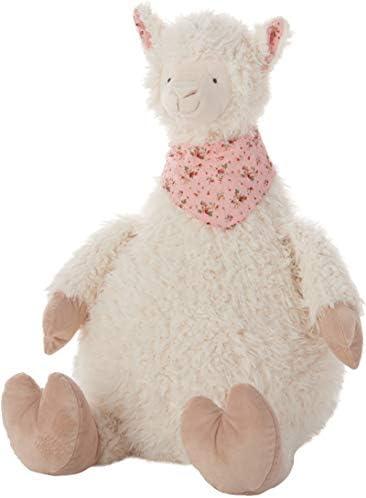 Mina Victory Plushlines Plush Llama Ivory Throw Pillow 23 x 24