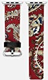 Apple Watch Band - Fashionable Colorful Apple Fabric Watch Strap with Metal Buckle for Apple Watch. Great stocking stuffer, Chinese new year, birthday, anniversary gift idea! (Red 38mm)