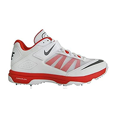 wholesale dealer 10a8c cbb43 Nike 2015 Lunar Accelerate Cricket Shoes (White Red UK 13)  Amazon.co.uk   Shoes   Bags
