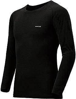 (モンベル)mont-bell ジオラインM.W.ラウンドネックシャツ Men's 1107282 ブラック(BK) XL