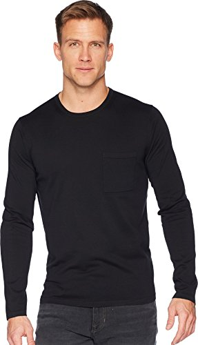 Vince Men's Single Pocket Crew Neck Tee, Black, ()