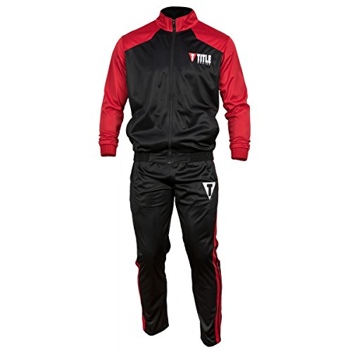 Title Super Poly Peak Warm-Up, Black/Red, Large