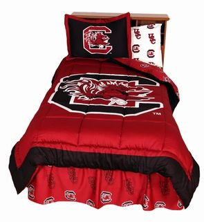 South Carolina Gamecocks (3) Piece KING Size Reversible Comforter Set - Includes: (1) KING Size Reversible Comforter and (2) Pillow Shams - Save Big By Bundling!
