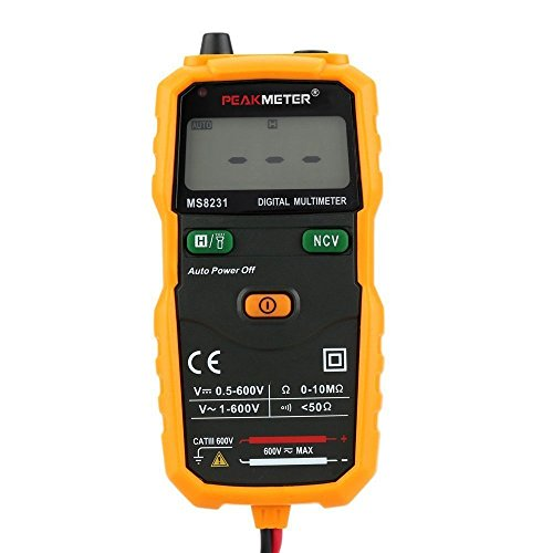 ViewTool MS8231 Pocket Size 2000 Counts Mini Auto Digital Multimeter with Non Contact Voltage Detector ()
