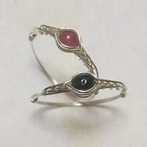 - 2pc 11# Natural Tourmaline 925 Sterling silver Handmade rings (5-12# available in shop)