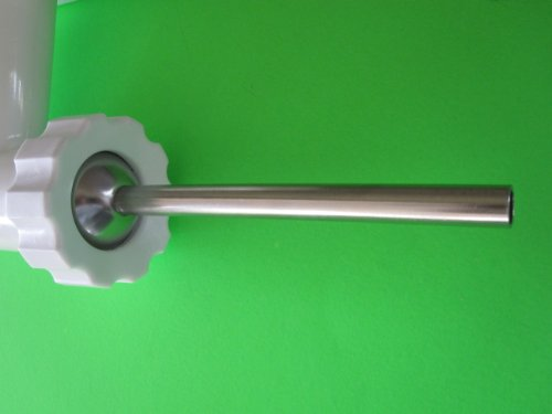 "Narrow Snack Stick Size Stuffing Tube for Chefs Choice Meat Grinder Attachment. Stainless Steel. 7/16"" (1/2"" Od)"