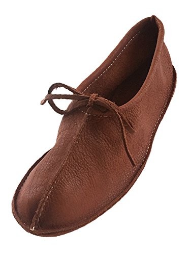 Bastien Industries Women's Buffalo Hide Leather Ballet Earthing Moccasins (8, Tobacco) by Bastien Industries