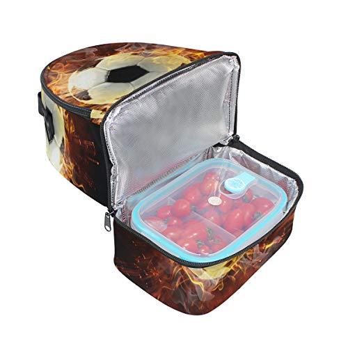 isotherme Boîte bandoulière lunch réglable ballon Pincnic Sac de l'école Cooler Folpply à Tote Fire avec à foot pour avec wOqcXz0