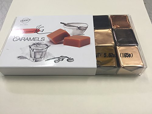 French Gourmet Caramels with Butter from Charentes-Poitou AOC, 4 Flavors, 18pc, 5.5oz (French Chocolate compare prices)