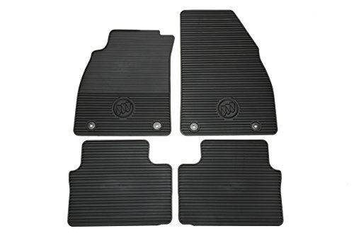 GM Accessories 22759945 Front and Rear All-Weather Floor Mats in Black with Deep Rib and Tri-Shield Logo by General (Logo Rib)